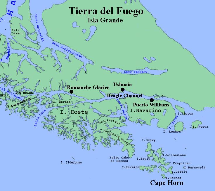 tierra del fuego national park map wwwpixsharkcom