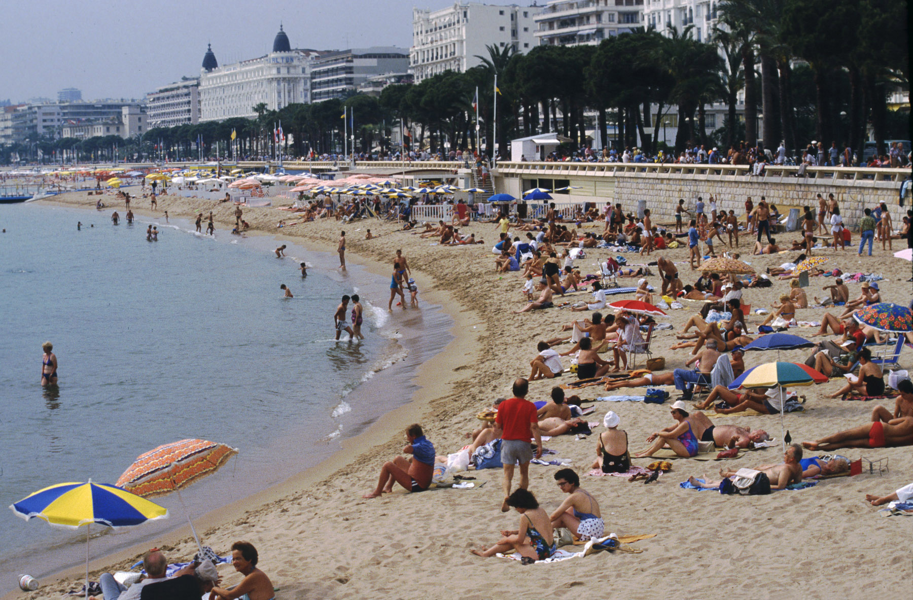 Sunny day at Cannes beach, French Riviera