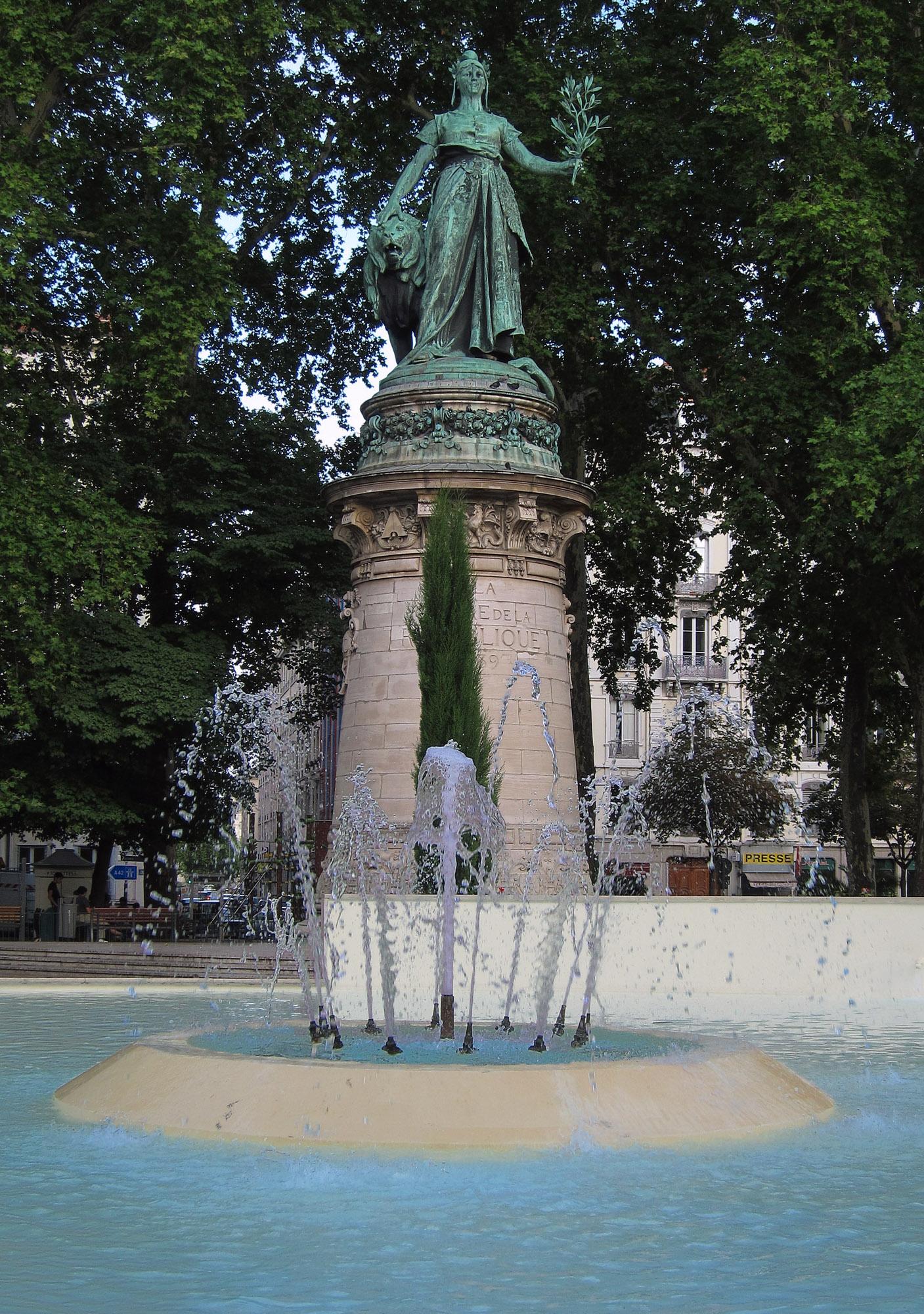 Statue de la République, Place Carnot, near Gare Perrache