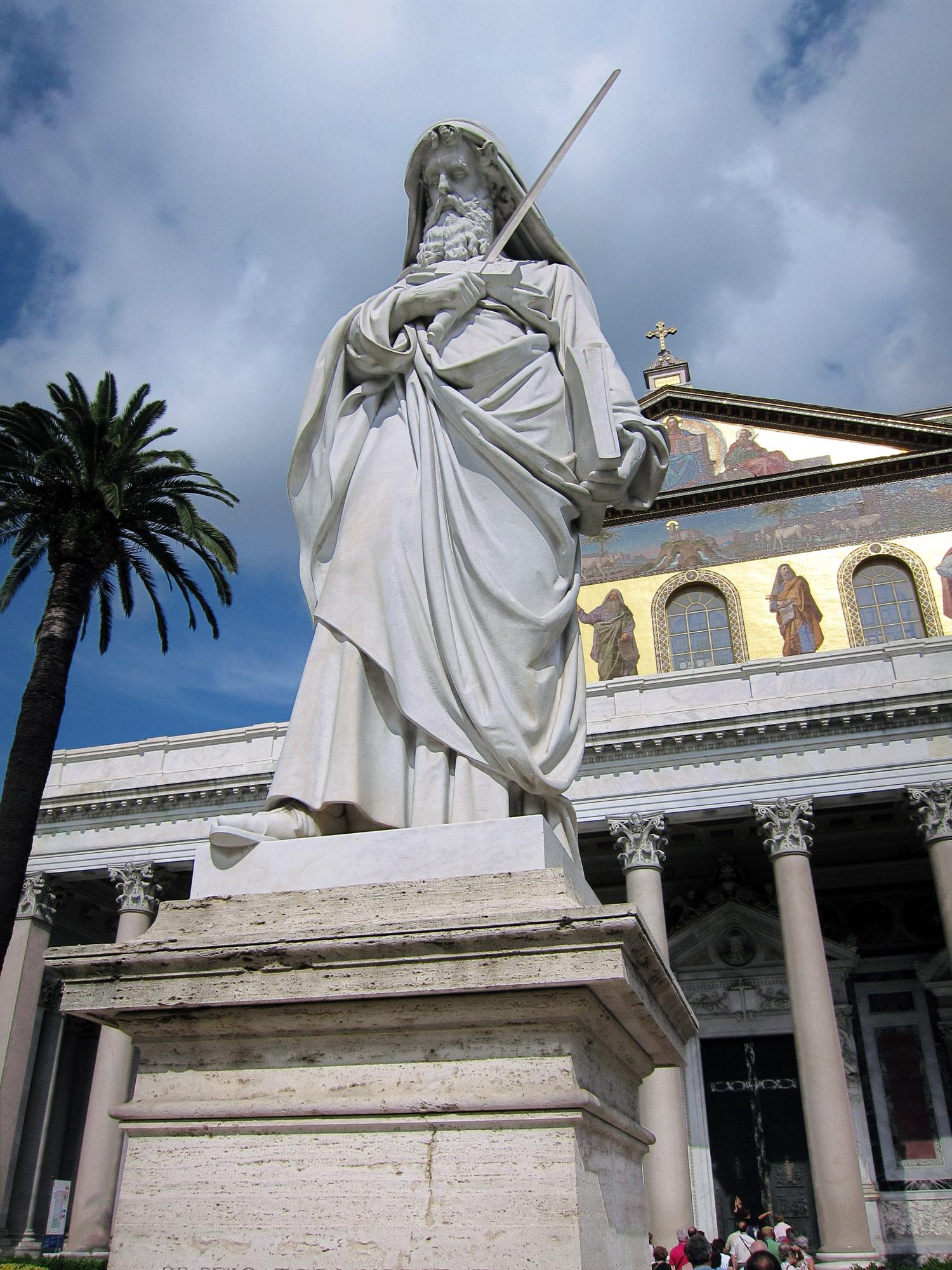 Statua di San Paolo, Basilica di San Paolo fuori le mura dans IMMAGINI (DI SAN PAOLO, DEI VIAGGI, ALTRE SUL TEMA) bosps-IMG_1668a1