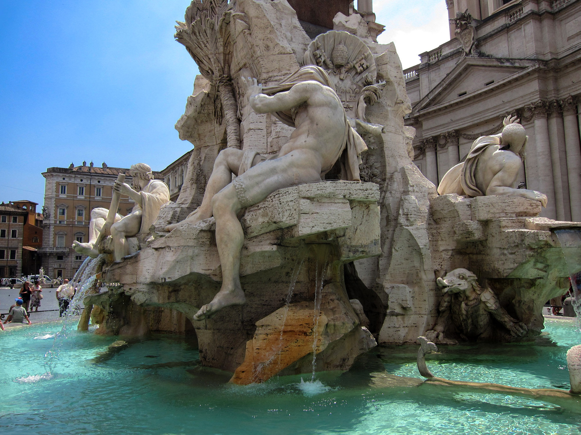 Bernini's Fountain of Four Rivers, Piazza Navona, Rome