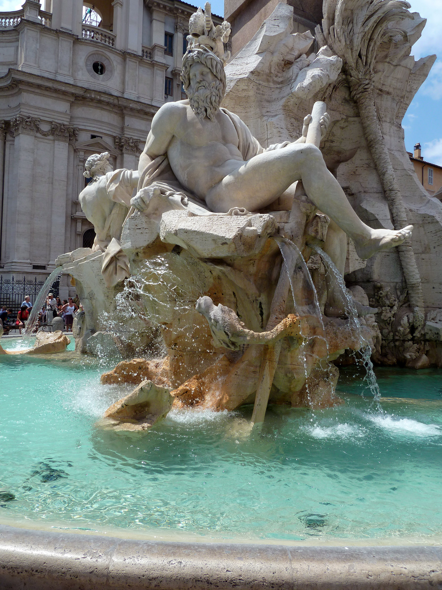 River-god Ganges: Bernini's Fountain of Four Rivers, Rome