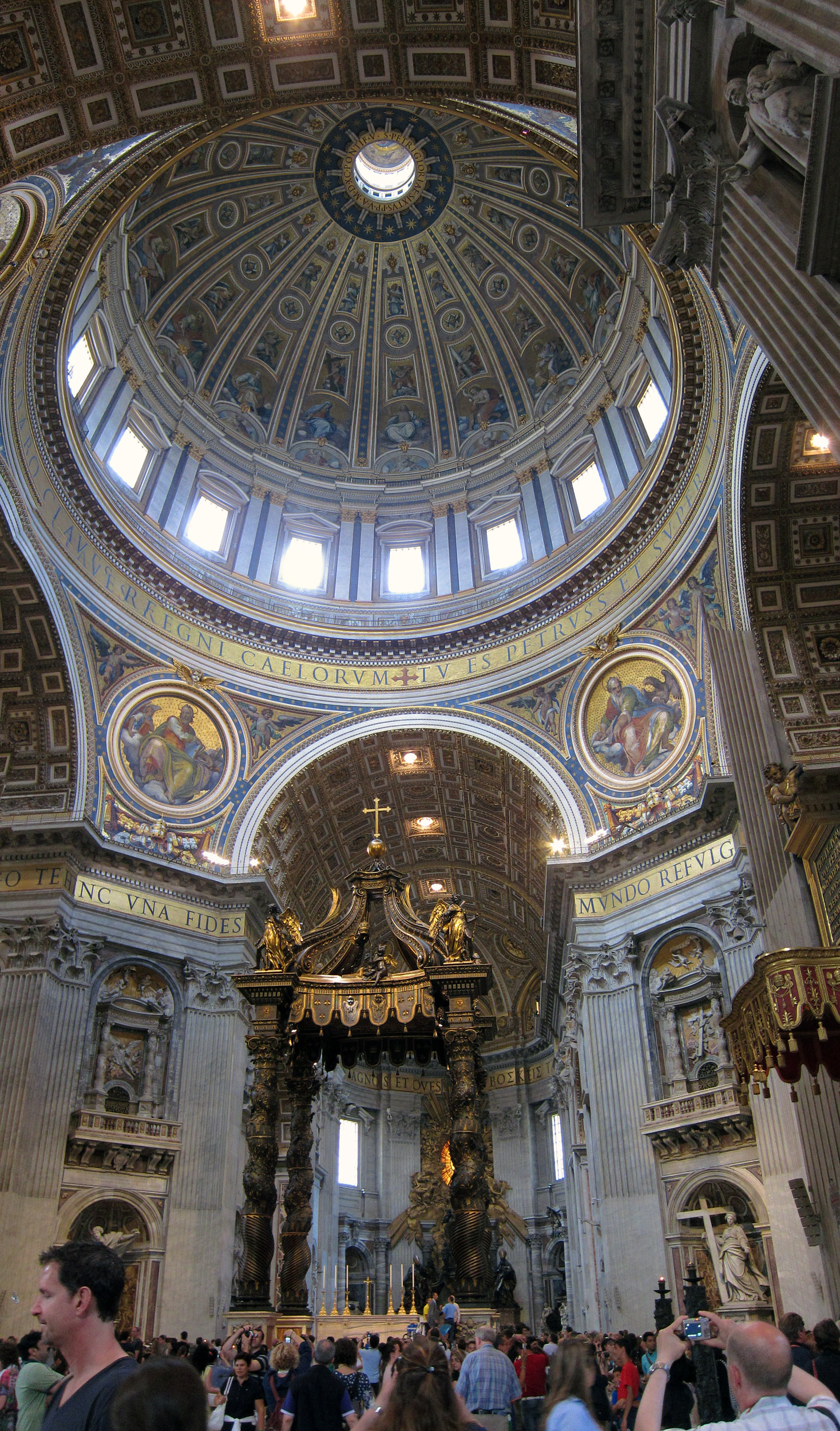 Michelangelo S Dome And Bernini S Baldacchino In Saint