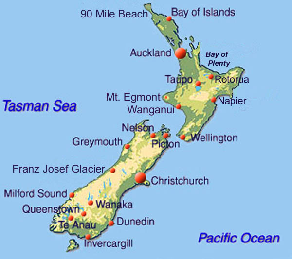 New Zealand Home Page - New zealand latitude