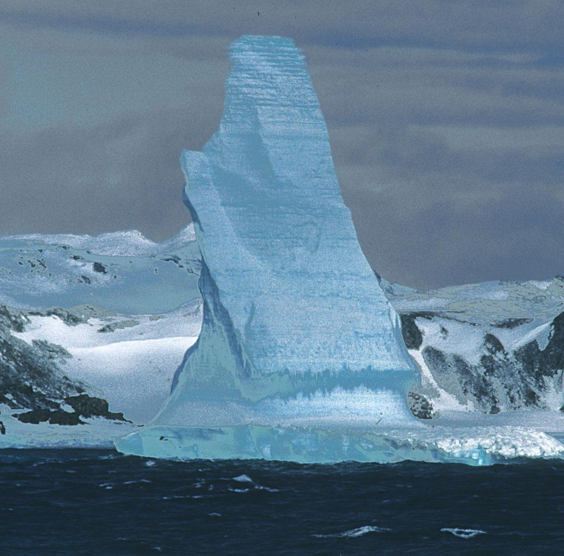 Tall Antarctic Iceberg