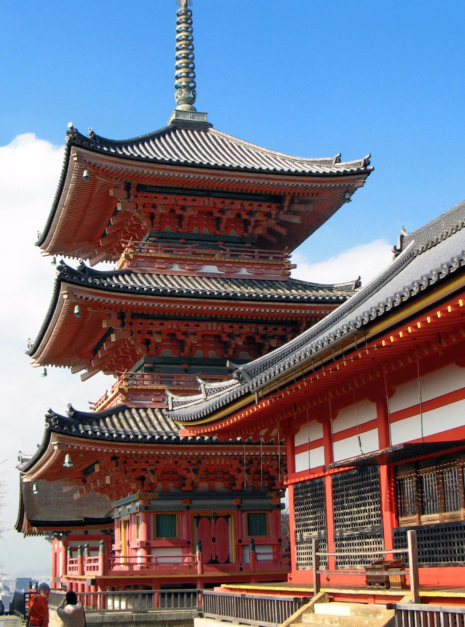 Pagoda of Kiyomizu-dera, Kyoto Japan